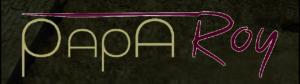 Papa Roy Logo auf braunem Hintergrund